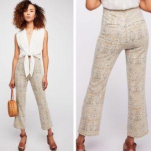 EUC Free People High Rise Frida Crop Flare Jeans
